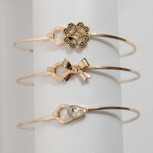 Jewelry - SET of 3 Fun Bangle Bracelets